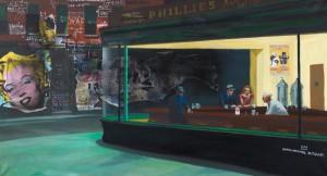 Hommage NTHK 5, 2012,  97x179cm, Technique mixte sur toile, titré et daté au dos Estimation : 5 000 - 6 000 € Prix premium : 28 219 € Cornette de Saint Cyr, Paris, 21/10/2012